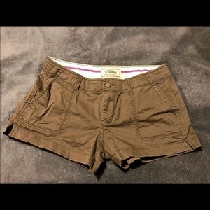 Old Navy Brown Shorts size 4 low rise 3 1/2 shorts